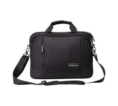 """Kingsons 14.1""""black laptop shoulder bag - Elite black series"""