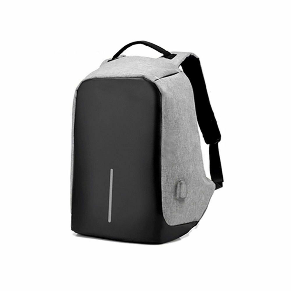 Volkano Smart Laptop Backpack Blk/Charc- Anti-theft