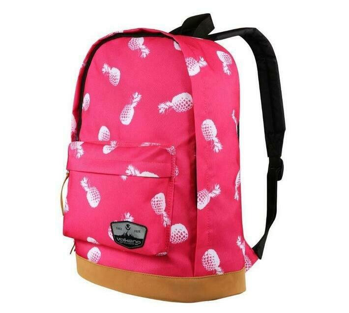 Volkano Suede Series Backpack Pineapples (Pink)
