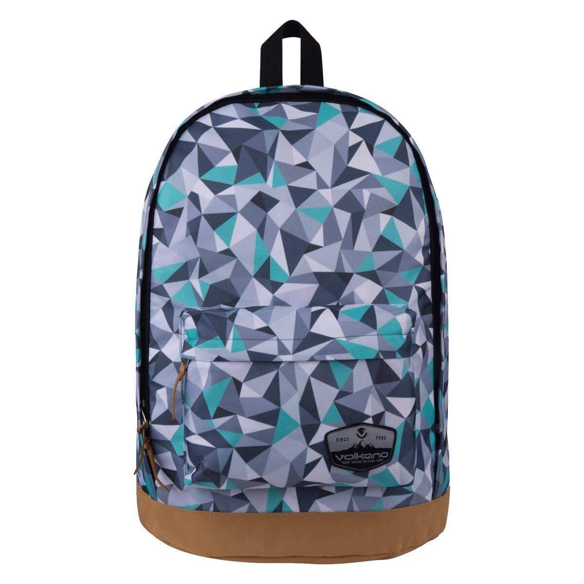 Volkano Suede Series Backpack Geo - Grey