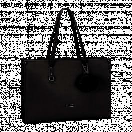 Supanova Pompom Ladies Laptop Bag Blk