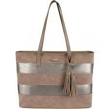 Supanova Tassles Ladies Laptop Bag - Taupe