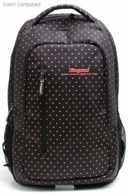 """Kingsons 14.5"""" Black Match Red Laptop Backpack"""