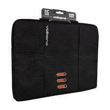 """Volkano Latitude Laptop Sleeve 13"""" to 14.1"""" - Black/Orange"""