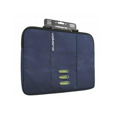 "Volkano Latitude Laptop Sleeve 13"" to 14.1"" - Navy/Lime"