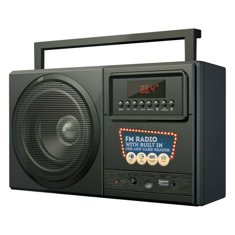 Bounce Boomer Series Digital FM Radio with Bluetooth