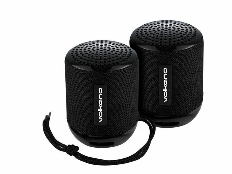 Volkano Gemini Series Pair of True Wireless Bluetooth Speakers
