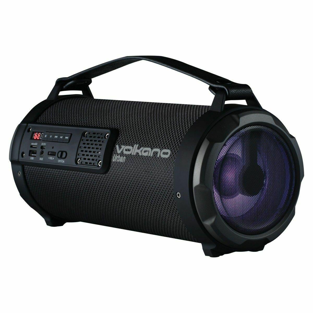 Volkano Urban Series Fabric Tube Bluetooth Speaker - Black