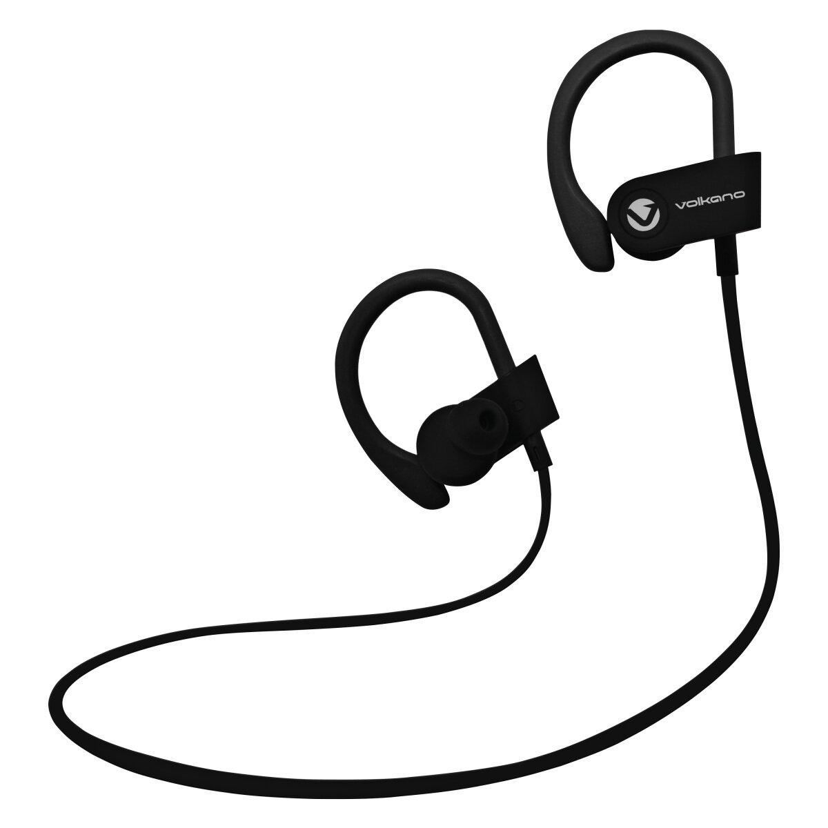 Volkano Race series Bluetooth Sport earhook earphones - black