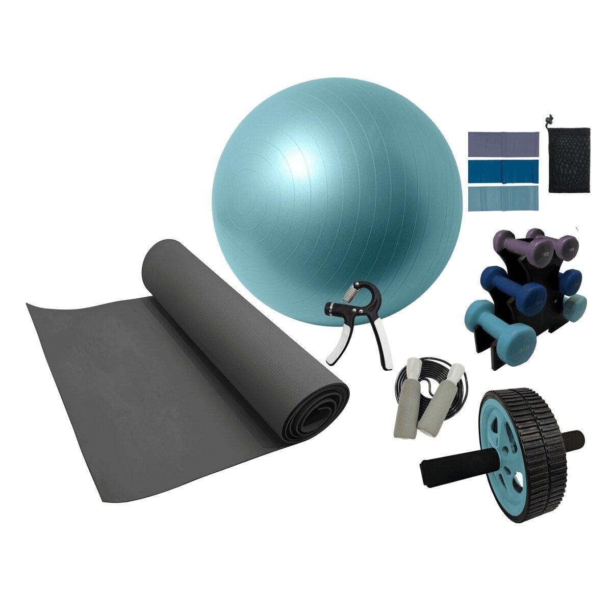 Volkano Active Home Gym Kit 7pc Set - Multi