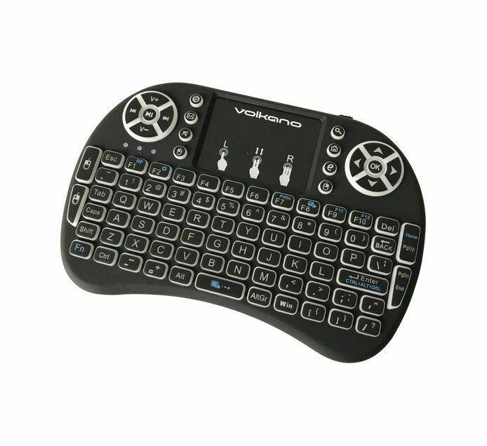 Volkano Control series Smart TV remote Control keyboard and trackpad
