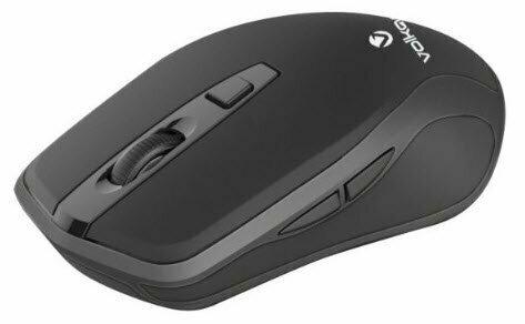 VolkanoX Zircon series wireless mouse, dpi adjust, side buttons - gunmetal/black