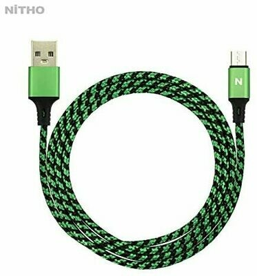 Nitho XB1 DUAL CHARGE & PLAY CABLE �2x PS4 charge and play single cable �4m braided and metal plug