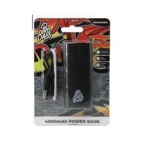 Pro Bass Engine series 4000mAh Powerbank- Black