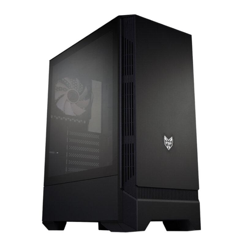 FSP CMT260 Glass Side Panel (GPU 325mm,CPU 170mm) ATX,Micro ATX,Mini-ITX Gaming Chassis - Black