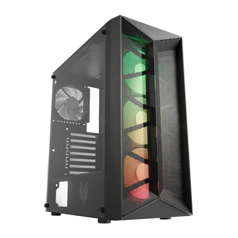 FSP CMT211A Glass Side Panel (GPU 320mm,CPU 160mm) ATX,Micro ATX,Mini-ITX Gaming Chassis - Black
