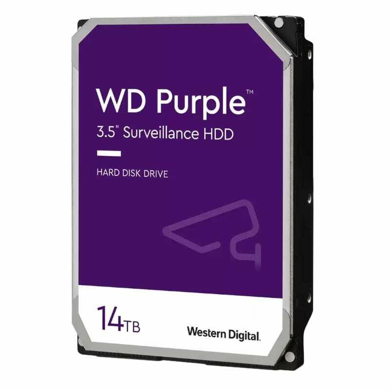 WD Purple 14TB 512MB 3.5 SATA HDD