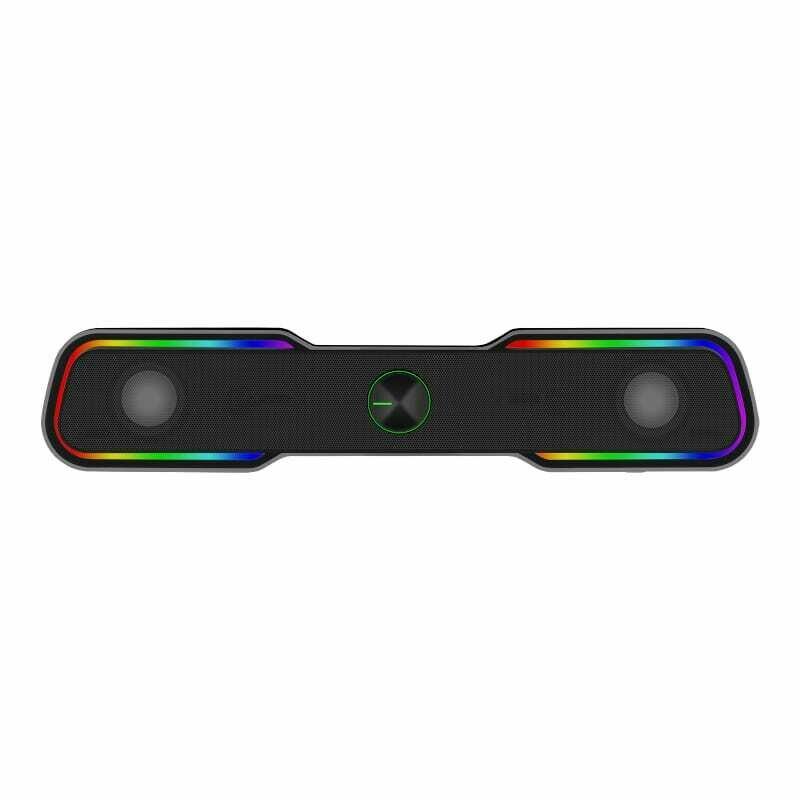 T-Dagger T-TGS600 2 x 3W,3.5mm,RGB Soundbar - Black