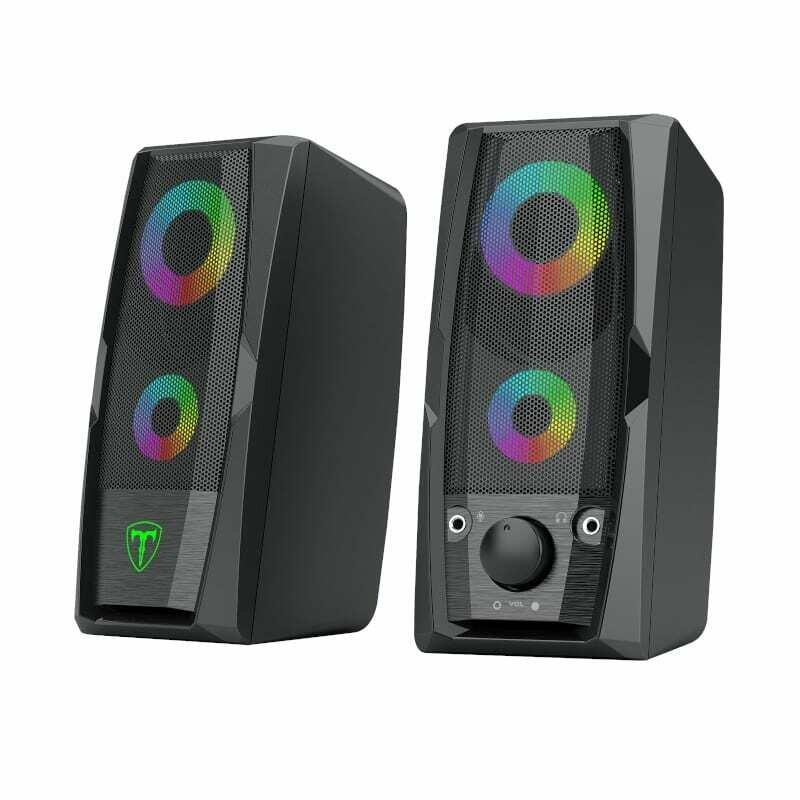 T-Dagger T-TGS550 2 x 3W,3.5mm,RGB Speakers - Black