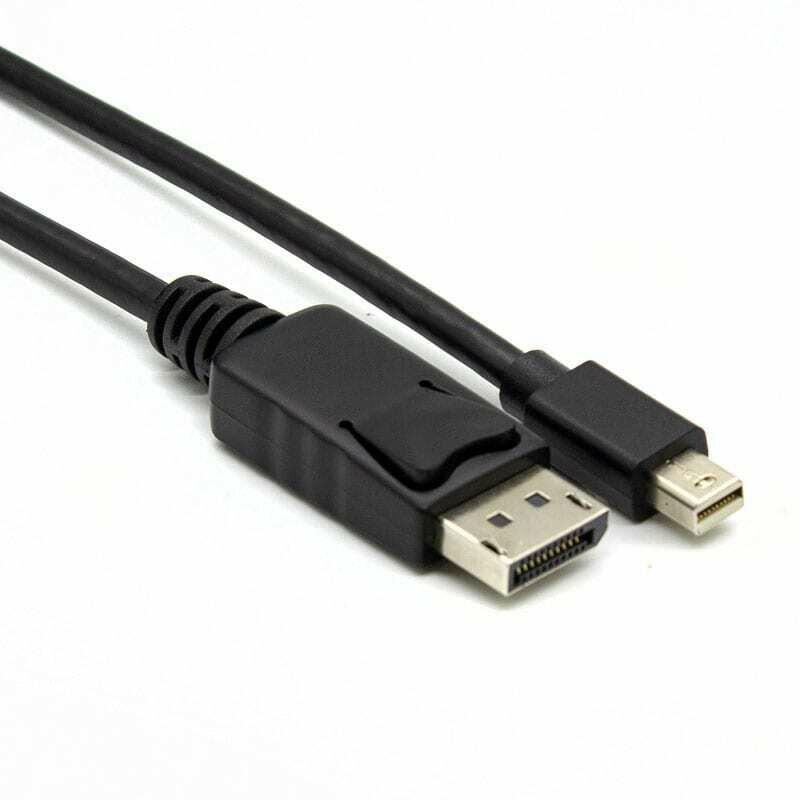 Gizzu Mini DP to DP 4k 30Hz,4k 60Hz 3m (Thunderbolt 2 compatible) Cable - Black