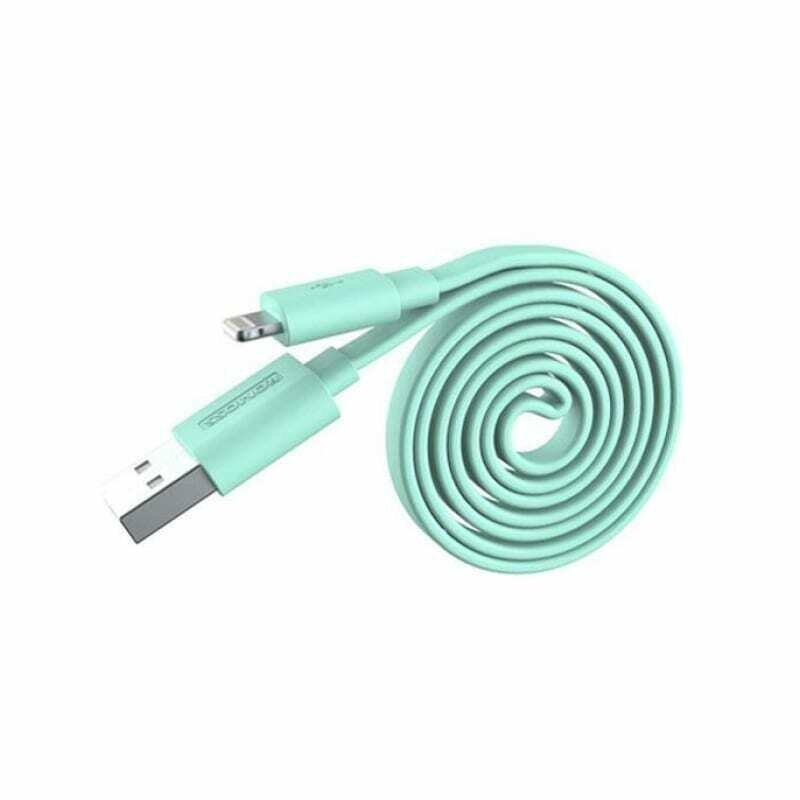 Romoss USB to Lightning 1m Flat Cable - Green