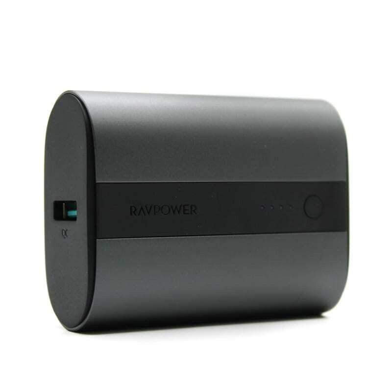RAVPOWER 10000mAh 1x USB,1x Type-C PD18W/QC3.0 Power Bank - Dark Grey
