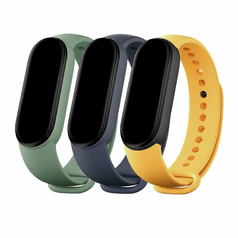 Xiaomi Mi Smart Band 5 Matte Straps - Navy Blue , Yellow , Mint Green