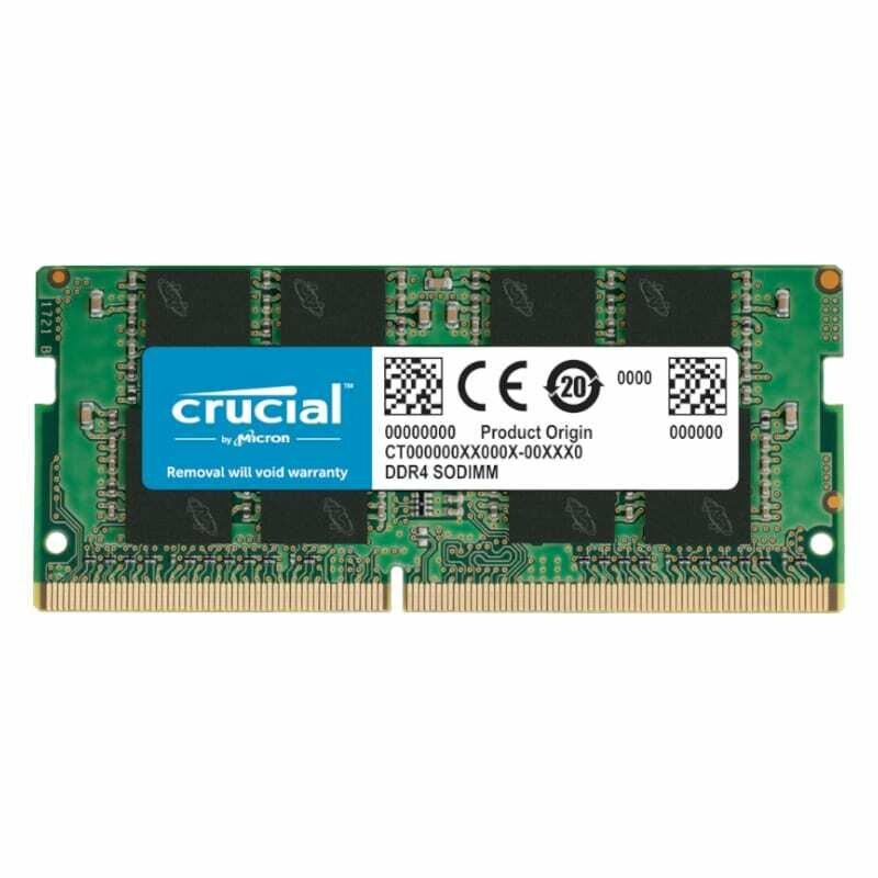 Crucial 8GB DDR4 3200MHz SO-DIMM Single Rank