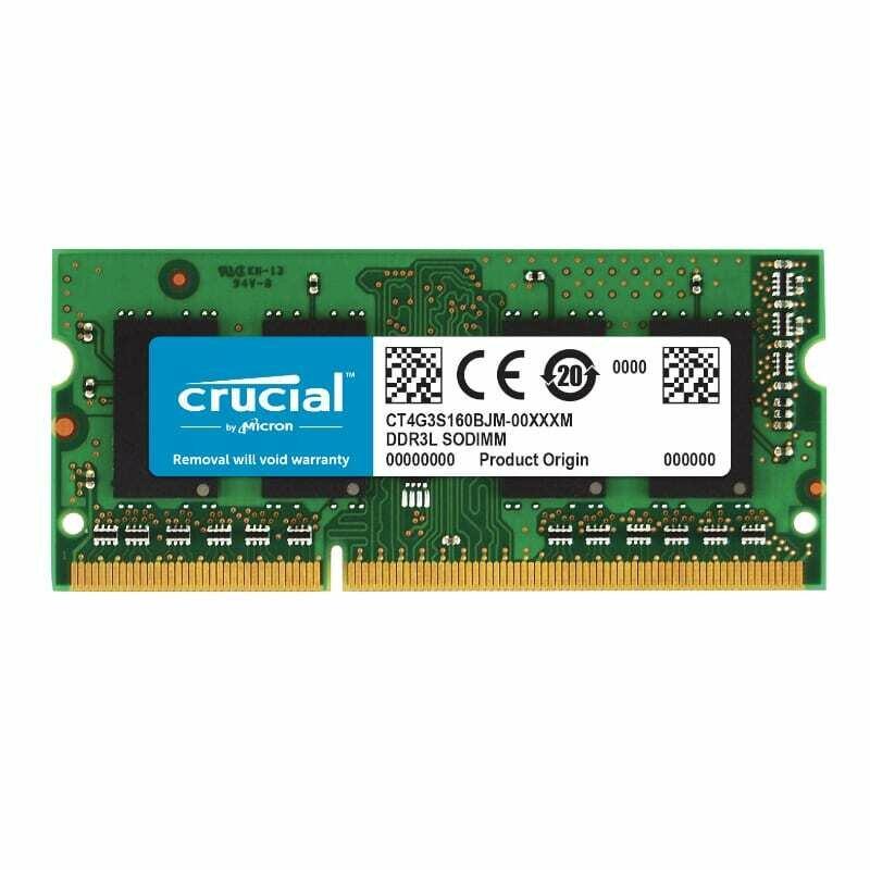 Crucial Mac 4GB DD3L 1600MHz (PC3-12800) CL11 204Pin 1.35V/1.5V Single Rank