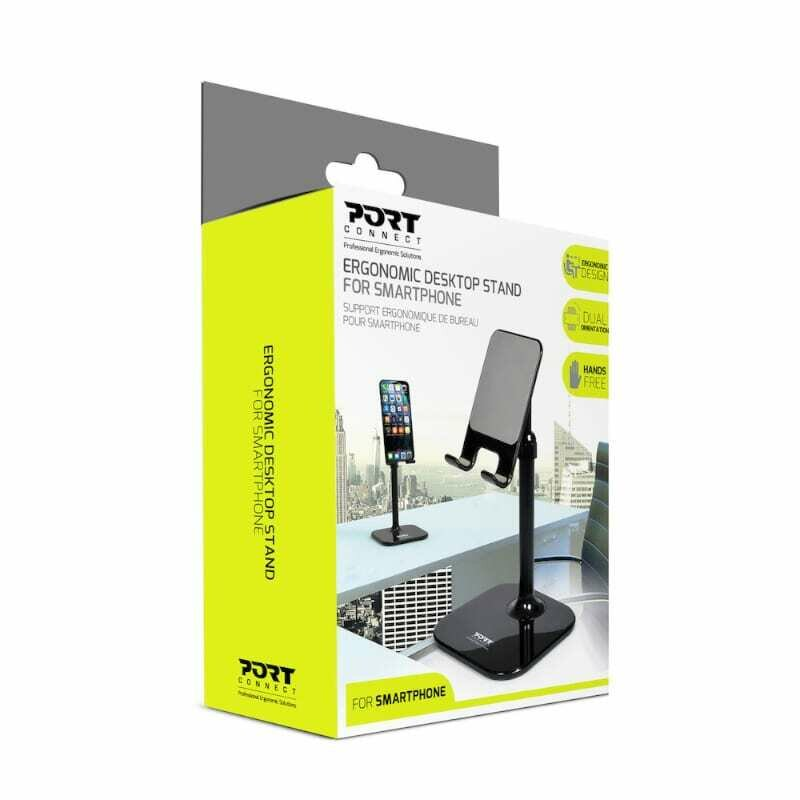 Port Ergonomic Tall Smartphone Stand - Black
