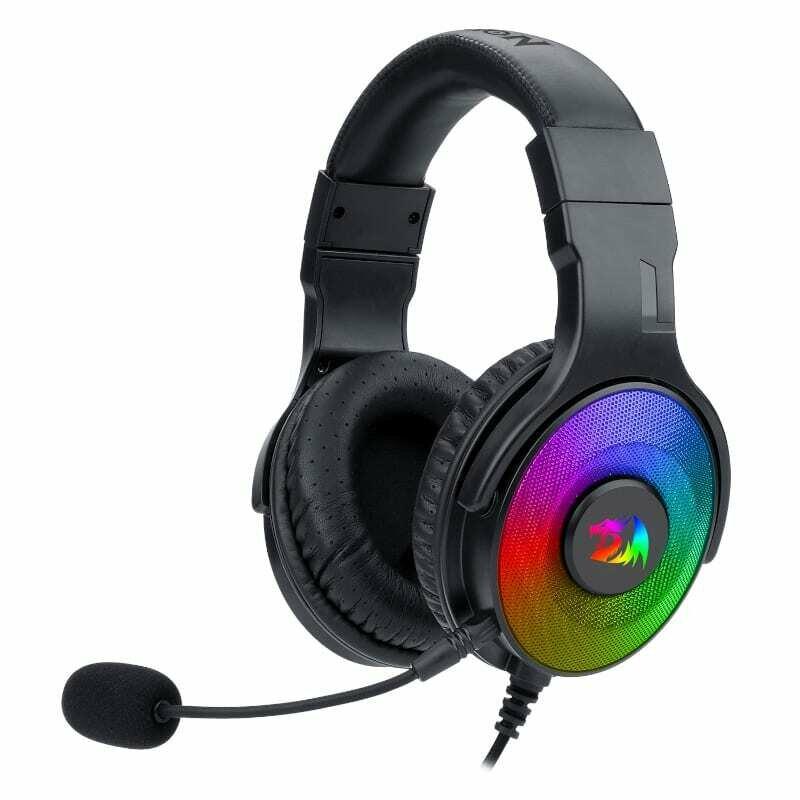 Redragon Pandora USB , Vitrual 7.1 , RGB , In-Line Controller Gaming Headset - Black