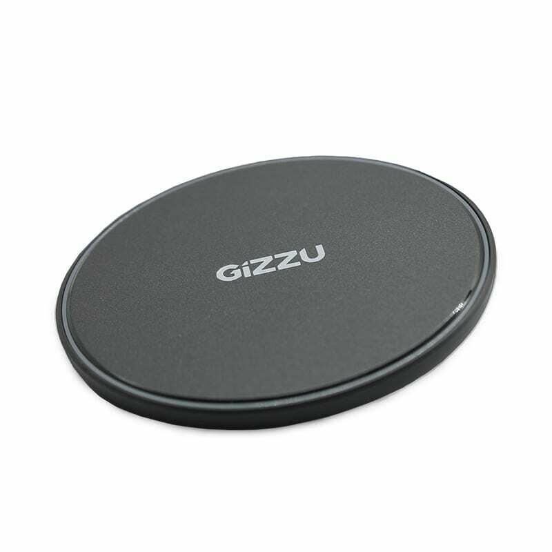 GIZZU 15W USB QI Fast Charge Wireless Charging Pad - Black