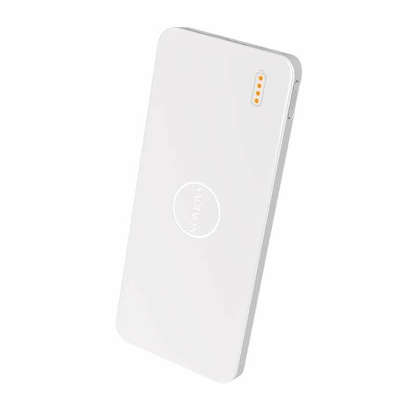 Romoss Pulse 10 10000mAh Input: Micro USB 5V 2.1A,Output: 1 x USB 5V 2.1A,1 x USB 5V 1A Power Bank - White