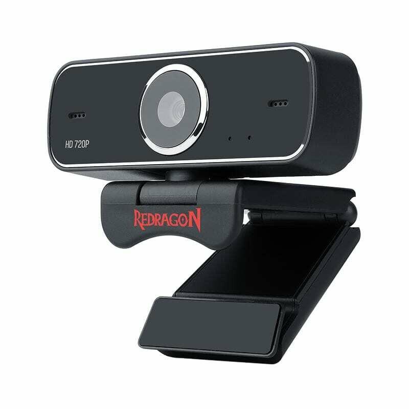 Redragon FOBOS 720p,68.6 FOV,Mount Bracket,30 FPS PC Webcam - Black
