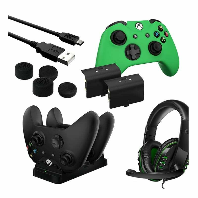 Sparkfox Player Pack 2xBattery Pack,1xCharge Cable,1xCharging Station,1xHeadset,1xStandard Thumb Grip Pack