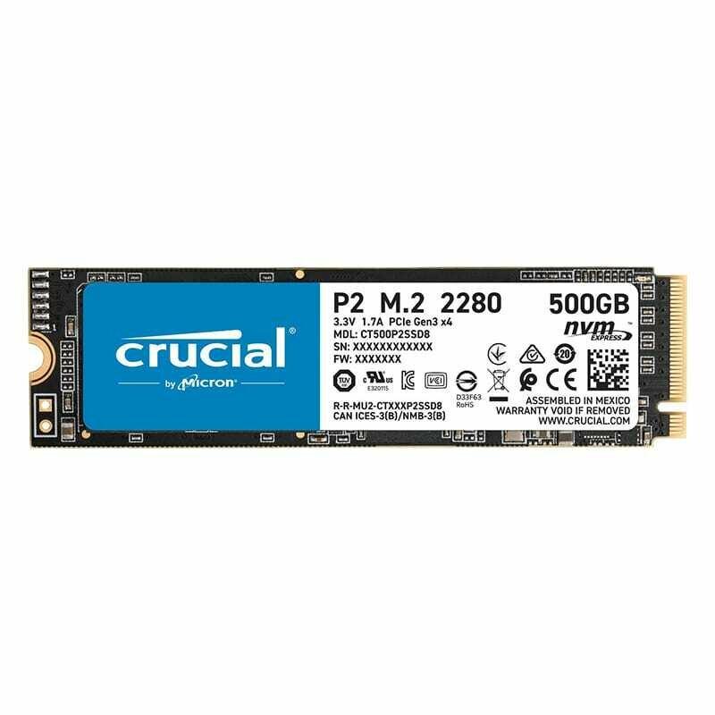 Crucial P2 500GB 3D PCIE NVME M.2 SSD