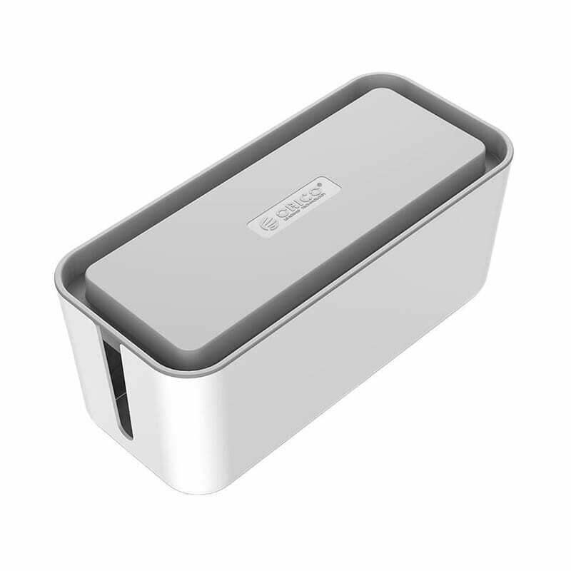 Orico Storage Box for Power Cable and Surge Protector 31x13.8x13cm - White and Grey