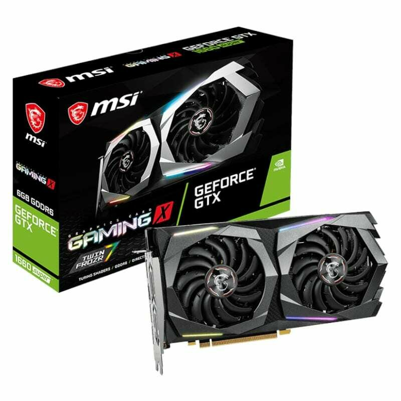 MSI Nvidia GeForce GTX 1660 SUPER Gaming X 6GB GDDR6 192-BIT Graphics Card