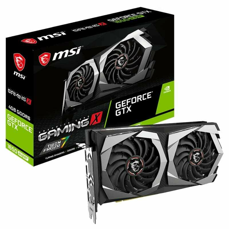 MSI Nvidia GeForce GTX 1650 SUPER Gaming X 4GB GDDR6 128-BIT Graphics Card