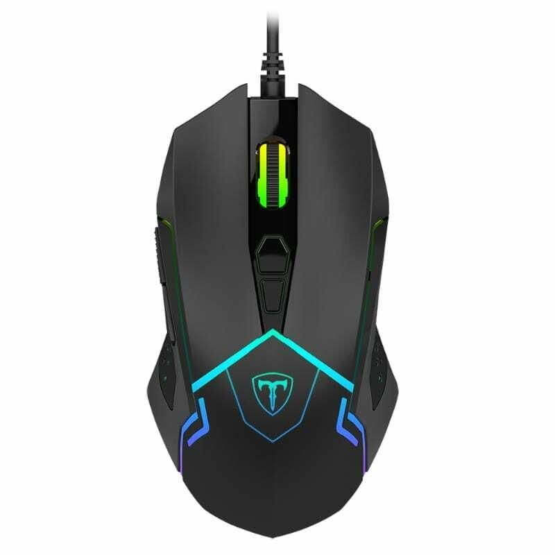 T-Dagger Senior 4800DPI 7 Button,180cm Cable,Ambi-Design,RGB Backlit Gaming Mouse - Black
