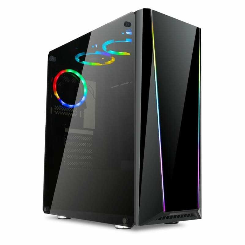 Redragon TAILGATE RGB Sync Tempered Glass Front/Side,3 x RGB Fan & 2 x Fan,ATX/Micro ATX,370mm GPU Black