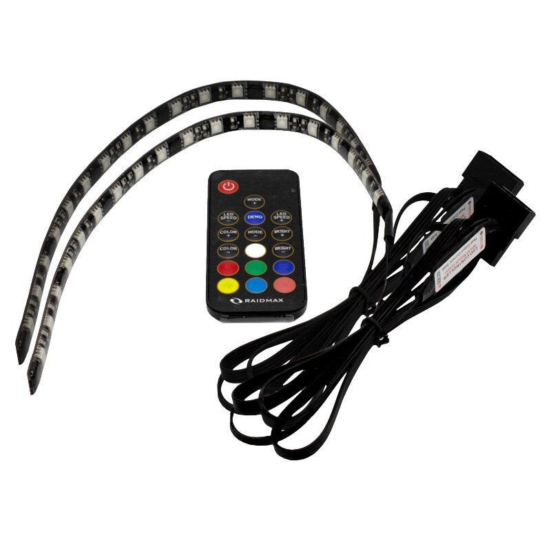 Raidmax 2xRGB LED Strip + Remote Controller (LD-302R)