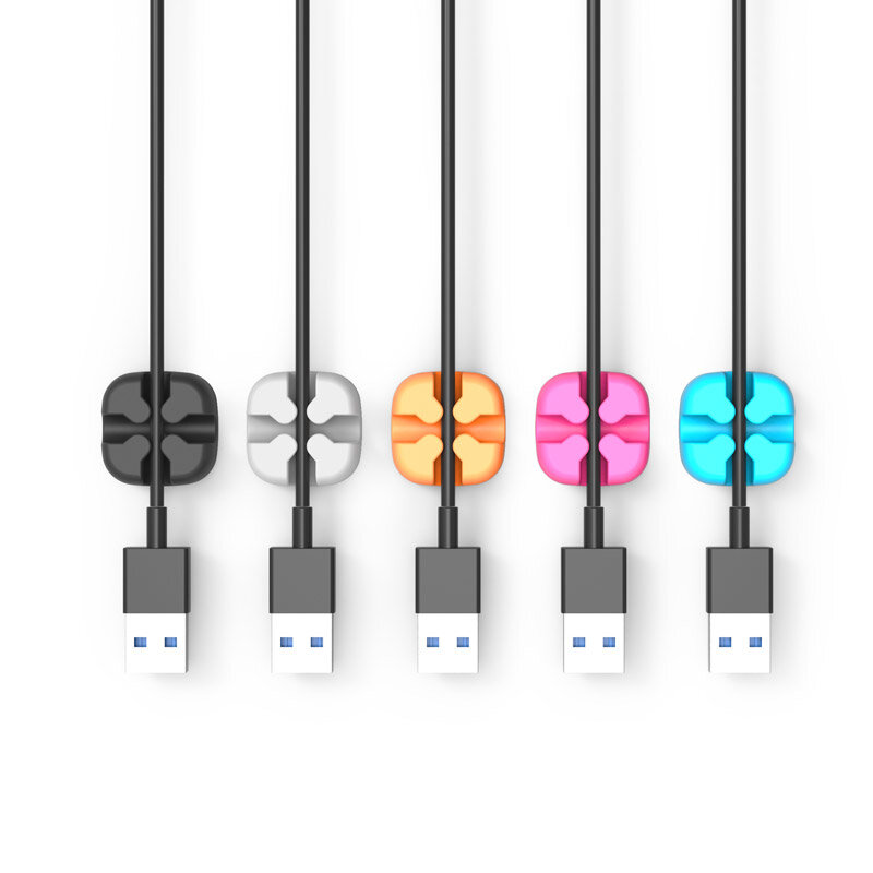 Orico 5 Slot Desktop Cable Cross Clip - Black