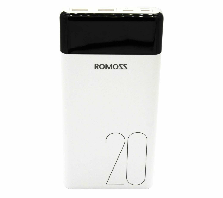 Romoss LT20 20000mAh Input: Type-C,Lightning,Micro USB,Output: 2 x USB Power Bank - White
