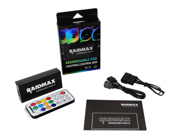 Raidmax Addressable RGB LED 4 Port (3 Pin) Controller , 4 Pin RGB Motherboard Connector (Compatible with: Fusion 2.0/Mystic Light Sync/Aura Sync)