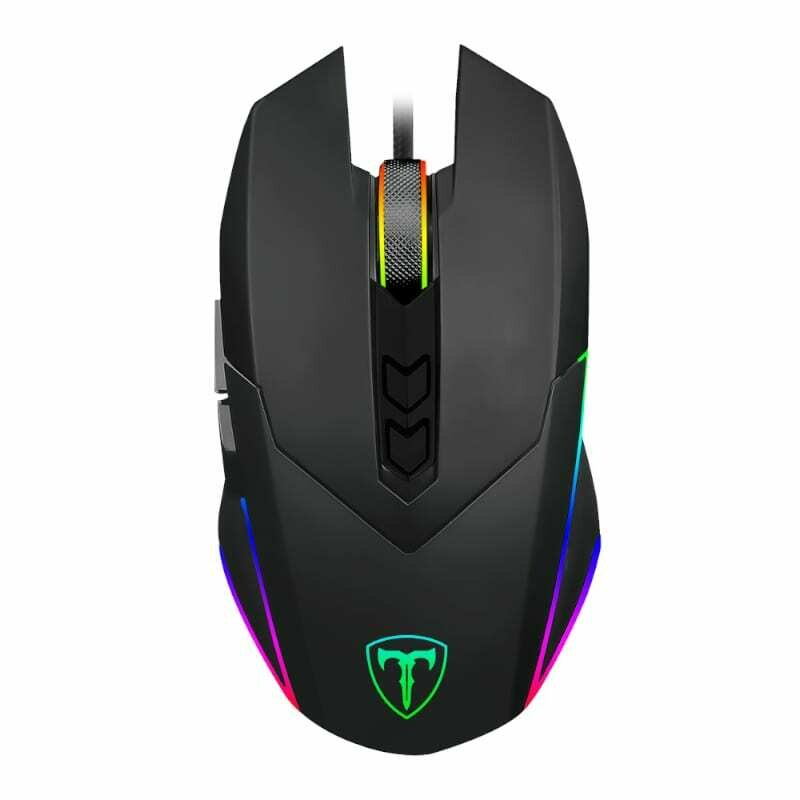 T-Dagger Lieutenant 8000DPI 10 Button,180cm Cable,Ambi-Design,RGB Backlit Gaming Mouse - Clear Black