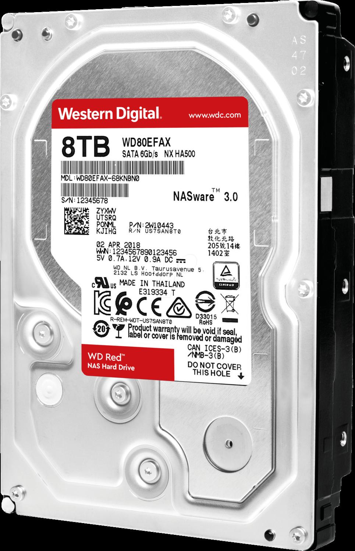 WD Red 8TB 3.5 SATA 256MB
