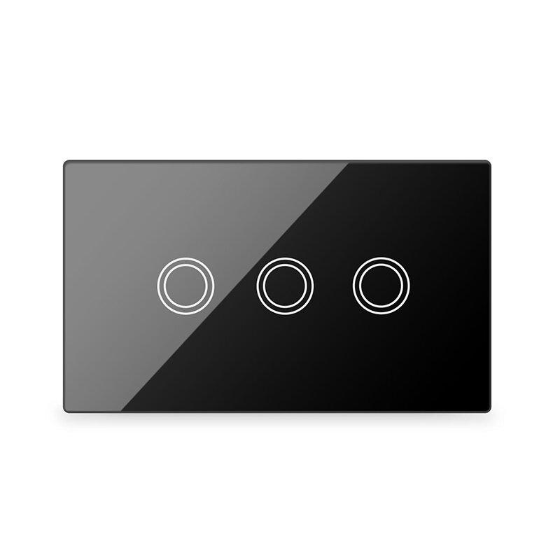 Lifesmart Smart Light Switch 3 lines - Socket 118/120 - Black