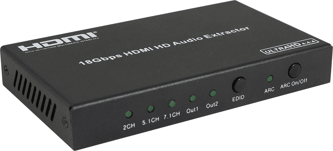 HDCVT HDMI 2.0 Audio Extractor with Dedicated HDMI Out Port for Audio Only