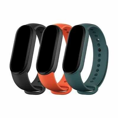 Xiaomi Mi Smart Band 5 Matte Straps - Black , Orange , Teal